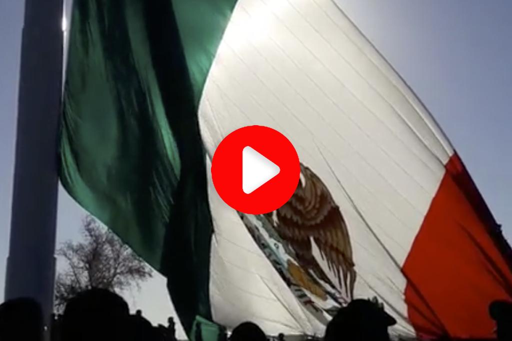 ¡LA BANDERA MÁS GRANDE DEL MUNDO ES MEXICANA!