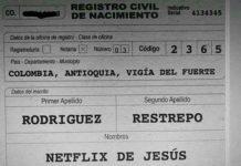 ¡BAUTIZAN A NIÑO CON EL NOMBRE DE 'NETFLIX' DE JESÚS!