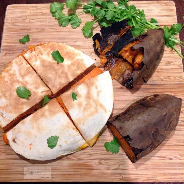 Quesadillas vegetarianas de batata